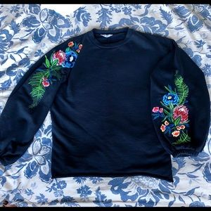 Zara Trafaluc  with Floral Embroidering